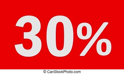 Black Friday Sale discount percentage text and animated