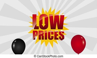 black friday sale - flying balloons ecommerce low prices...