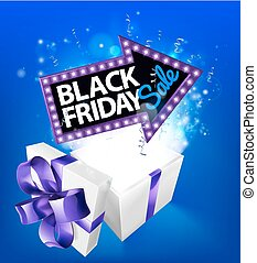 Black Friday Sale Gift Box Sign