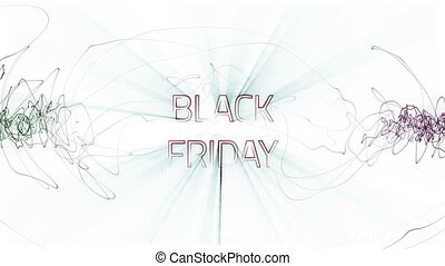 Black Friday Sale, glowing over white background