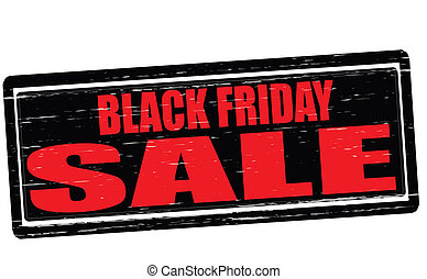 Black Friday sale - Stamp with text Black Friday sale...