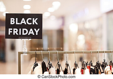 Black Friday Sale in Clothing Boutique