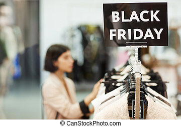 Black Friday Sale in Clothing Store