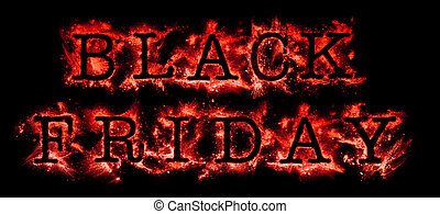 Black Friday Sale in glowing red text
