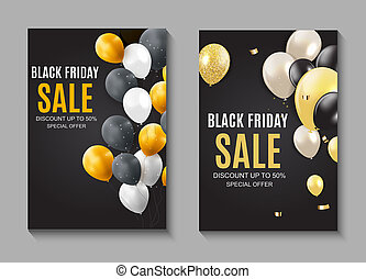 Black Friday Sale Inscription Banner Design Template. illustration
