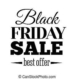 Black Friday sale inscription design template. Banner. Vector illustration