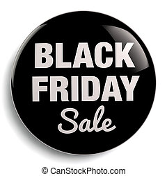 Black Friday Sale Isolated Sign