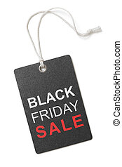 black friday sale label or tag isolated on white