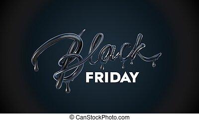 Black Friday Sale label. Vector ad illustration. Promotional...