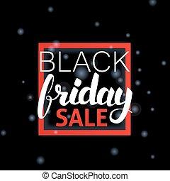 Black Friday Sale Lettering in Frame