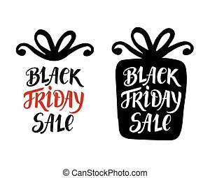 Black Friday Sale lettering inscription