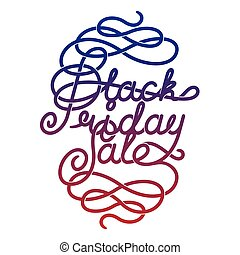 Black Friday Sale lettering