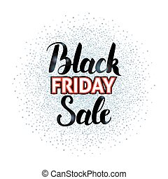 Black Friday Sale Lettering over Silver