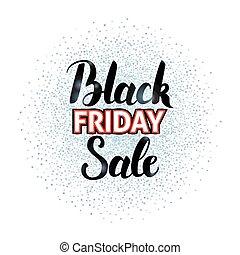 Black Friday Sale Lettering over Silver