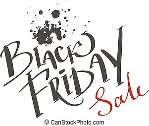 Black Friday Sale. Lettering text