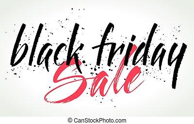 Black Friday Sale lettering. Vector illustration - Black...