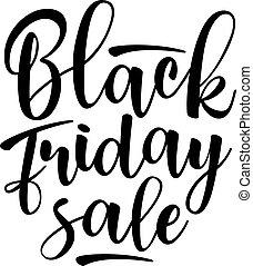 Black Friday Sale lettering. Vector illustration.