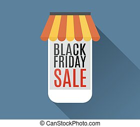 Black friday sale. Mobile phone.
