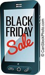 Black Friday Sale Mobile Phone Sign
