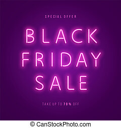 Black Friday Sale Neon Web Banner