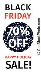 Black Friday sale of a coupon with a discount percentage