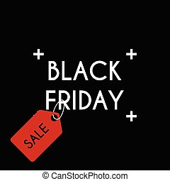 Black friday Sale on the black background.