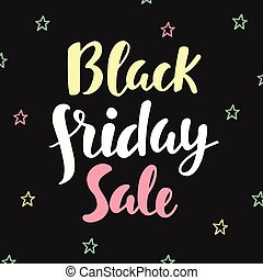 Black Friday Sale poster. Hand written lettering
