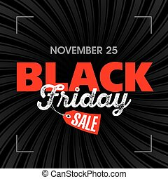 Black Friday Sale poster illustration