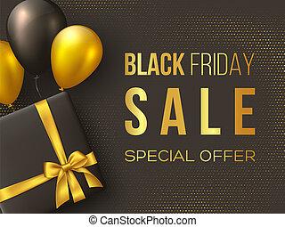 Black Friday sale poster or banner.