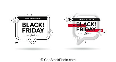 Black Friday sale poster with 3d flow shape