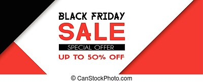 Black friday sale promotional banner template