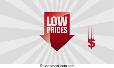 black friday sale - red arrow low prices falling dollar...