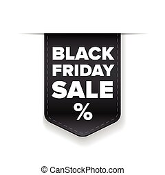 Black Friday Sale ribbon vector