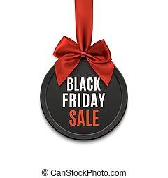 Black Friday sale round banner.