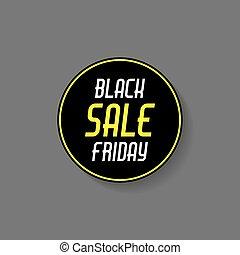 Black friday sale. Round sticker