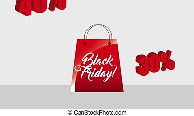 black friday sale - shopping bag black friday discount sale...