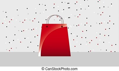 black friday sale - shopping bag discount percent dotted...