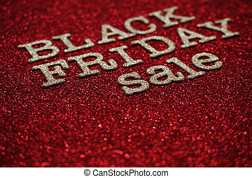 Black Friday sale shopping concept alphabet on red background