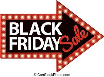 Black Friday Sale Sign Arrow