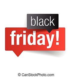 Black Friday sale sign label