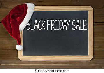 Black Friday sale sign on chalkboard