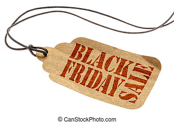 Black Friday Sale sign on paper price tag