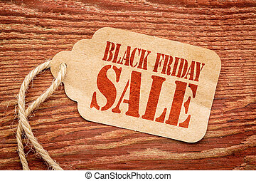 Black Friday sale sign on price tag