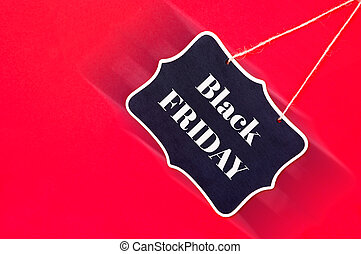 Black friday sale sign on red background .