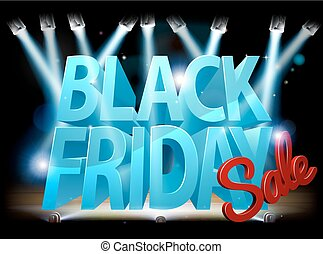 Black Friday Sale Stage Sign