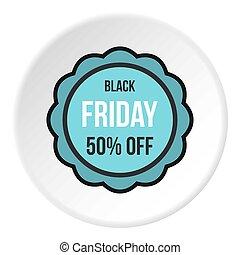 Black Friday sale sticker icon circle