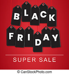 Black Friday Sale Template.  Illustration.