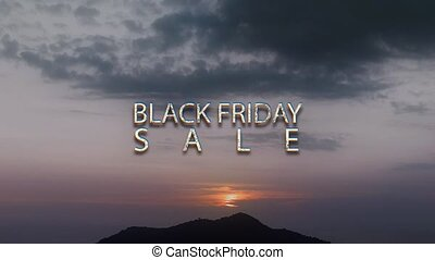 BLACK FRIDAY SALE - text animation with white letters over...