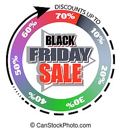 Black Friday sale. the banner template design