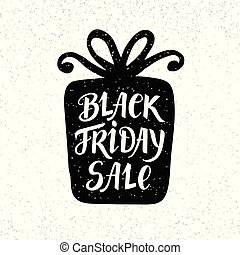 Black Friday Sale unique banner, hand lettering